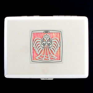 Praying Angel Credit Card Wallets, Cigarette Cases