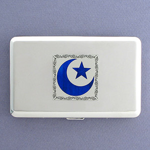 Star & Crescent Credit Card Wallet Cigarette Cases