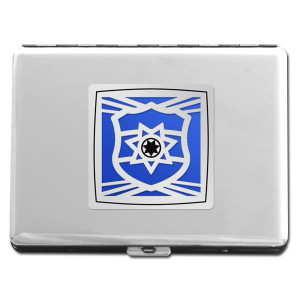 Police Officer Metal Cigarette Case Wallet