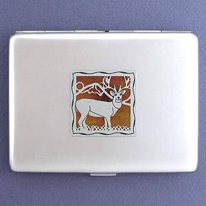 Deer Metal Cigarette Case Wallet