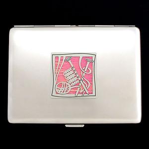 Knitting Metal Wallet or Cigarette Case