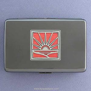 Sunset Metal Wallet or Cigarette Case