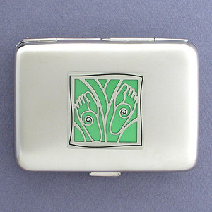 Feet Credit Card Wallet Cigarette Cases