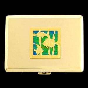 Tropical Fish Credit Card Wallet Cigarette Case