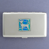 Chihuahua Metal Credit Card Wallet or Cigarette Case