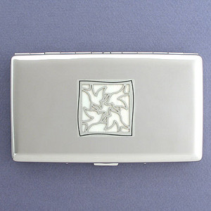Doves Metal Wallet or Cigarette Case