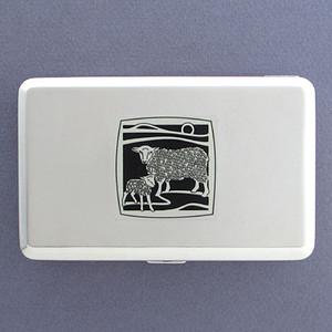Sheep Metal Wallet or Cigarette Case
