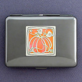 Pumpkin Metal Wallet & Cigarette Case