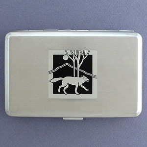 Wolf Metal Cigarette Case & Credit Card Wallets