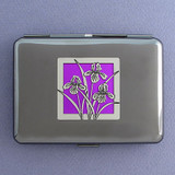 Iris Flower Credit Card Wallet & Cigarette Case