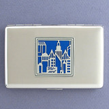 Cityscape Metal Credit Card Wallet or Cigarette Case
