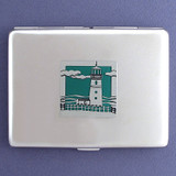 Lighthouse Metal Credit Card Holder or Cigarette Case