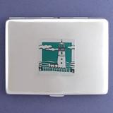 Lighthouse Metal Credit Card Holder or Cigarette Case