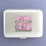 Flamingo Cigarette Cases or Metal Credit Card Wallets
