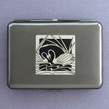 Swan Metal Cigarette Case Wallets