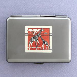 Giraffes Metal Cigarette Case Wallet