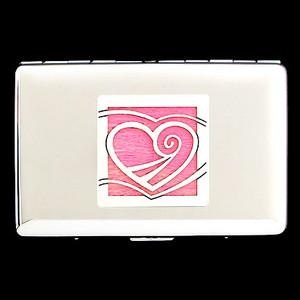 Heart Credit Card Wallet Cigarette Cases