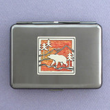 Bear Metal Cigarette Case or Credit Card Holder