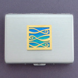 Ribbons Metal Credit Card Holder or Cigarette Case