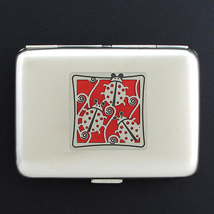Ladybug Metal Cigarette Case Wallet