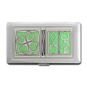 Lucky Cards Credit Card Holder or Cigarette Case Wallet