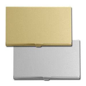 Engraved Business Card Cases - Silver & Gold