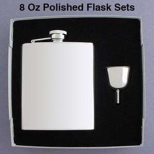 Engravable 8 Oz Canteen Flask Sets for Men & Women
