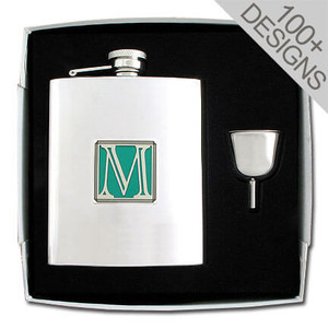 Personalized Flask Set in 100s of Fun Designs 8 Oz