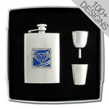 Cute Engraved Gift Flask Set
