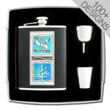 Designer Flask Sets with Any 2 of 100s of Images