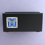 Butterflies Wood Personalized Desktop Business Card Holders