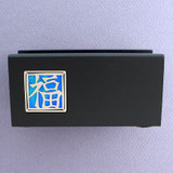 Good Luck Wood Office Desk Business Card Holders
