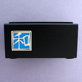 Chinese Harmony Character Office Desk Wood Business Card Holder