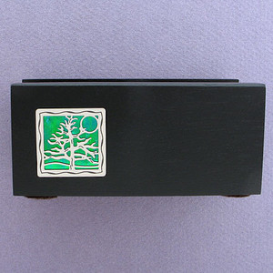Tree of Life Wooden Office Desktop Business Card Holders