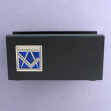 Freemason Wood Business Card Holders for Office Desk