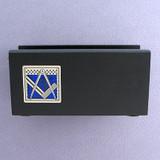 Freemason Wood Business Card Holders for Office Desk