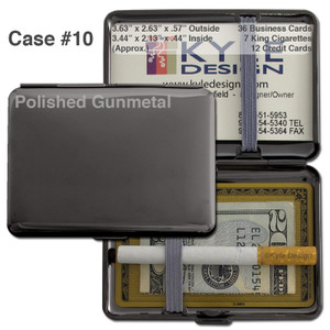 Deep Case for Cigarettes - Gunmetal