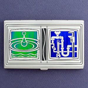 Plumber Business Card Holder