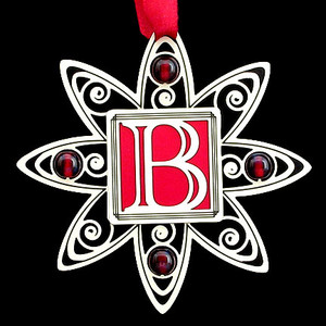 Letter B Christmas Ornaments