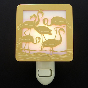 Stained Glass Flamingo Night Light
