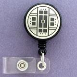 Arts & Crafts Style ID Badge Holder