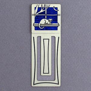 Kitten Engraved Metal Bookmark