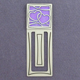 Heart Engraved Metal Bookmark