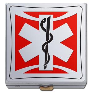Red EMT Pill Box for Paramedics