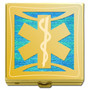 Emergency Responder Pill Box in Gold