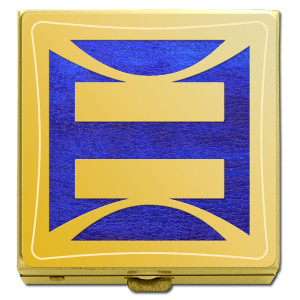 Gay Rights Pill Box in Gold & Purple