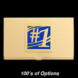 Number One Business Card Case - Gold