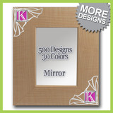 Decorative Framed Table Top Mirror - Vertical or Horizontal