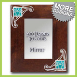 Art Nouveau Mirror - Hang on Wall - Rest on Table/Counter Top