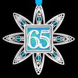 65th Anniversary Ornament in Silver